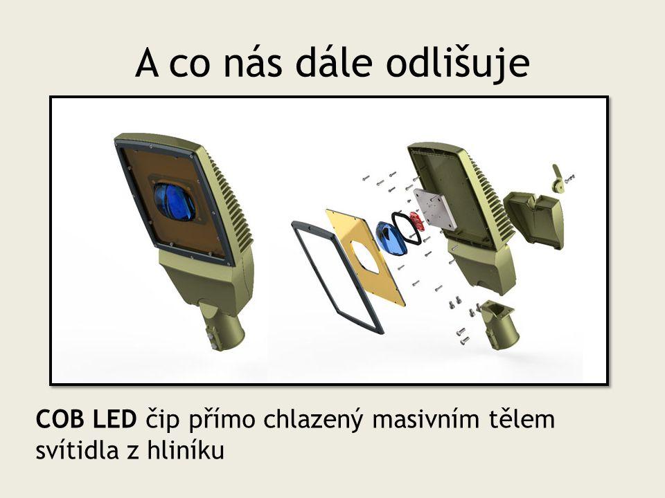 A co nás dále odlišuje COB LED čip přímo chlazený masivním tělem svítidla z hliníku