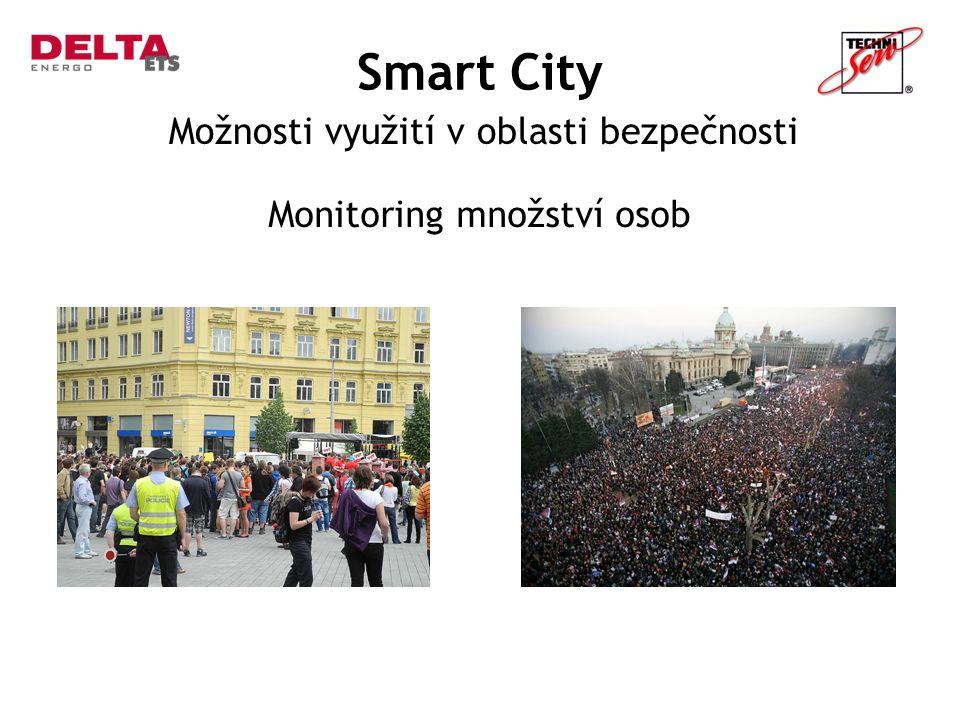 Smart City Možnosti využití v oblasti bezpečnosti Monitoring množství osob