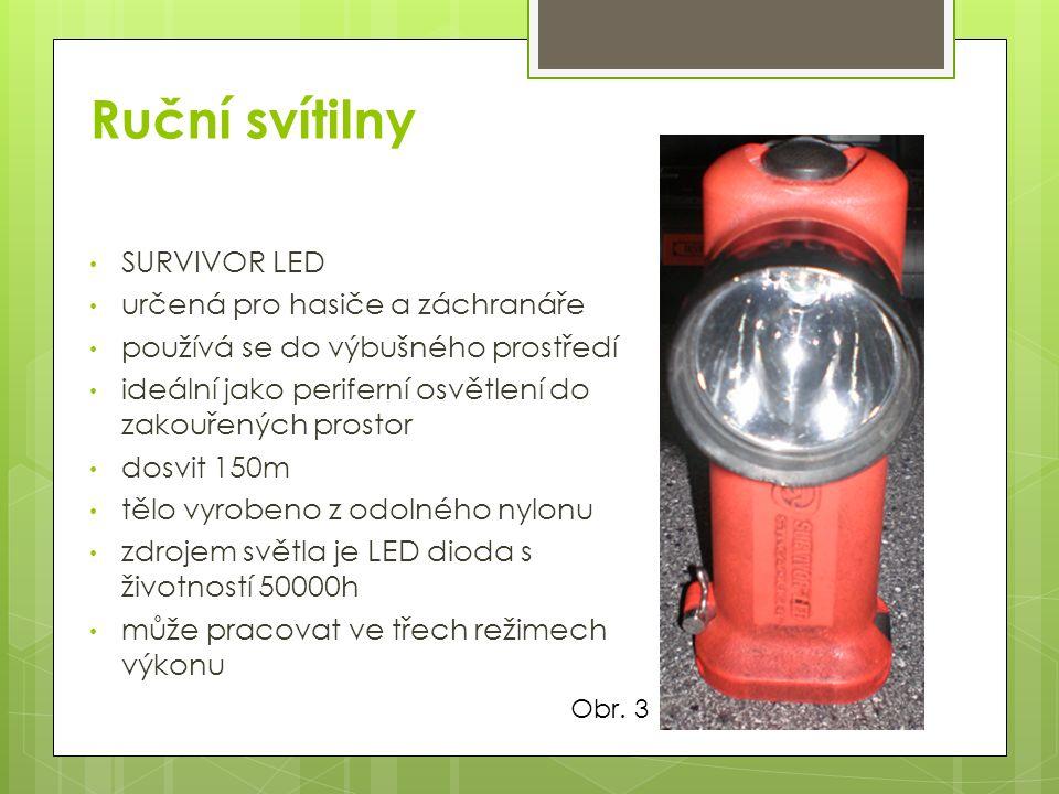 Ruční svítilny SURVIVOR LED určená pro hasiče a záchranáře používá se do výbušného prostředí ideální jako periferní osvětlení do zakouřených prostor d