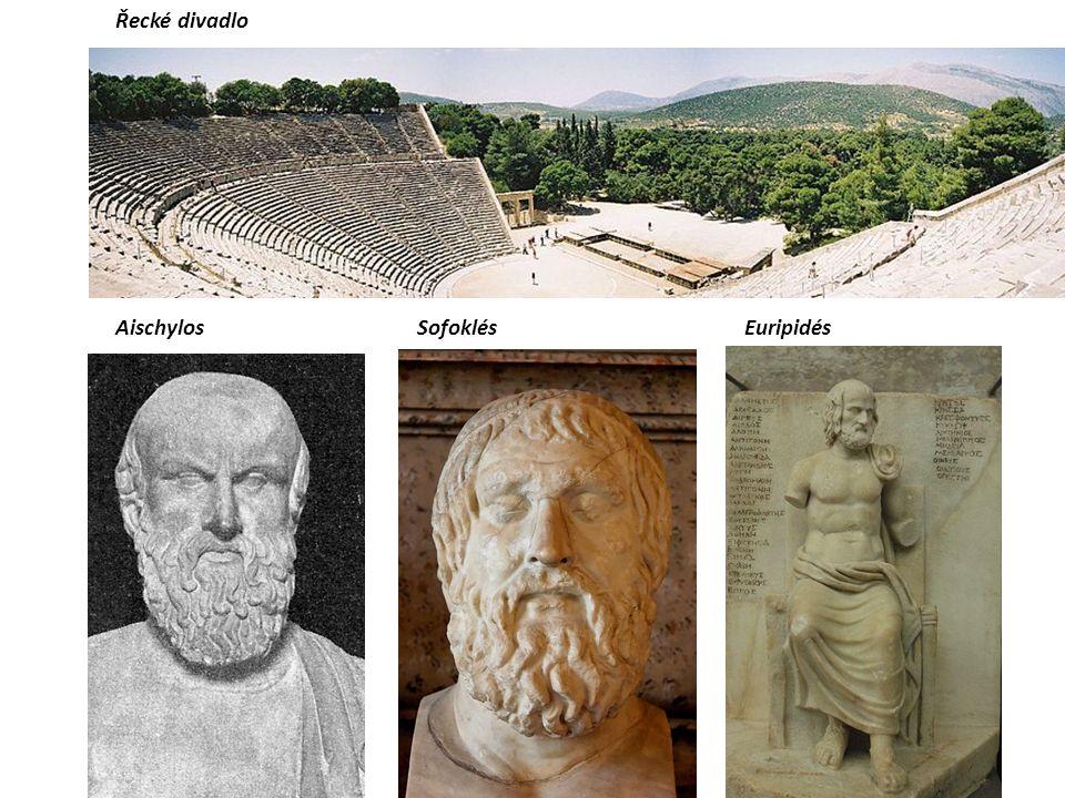 Řecké divadlo AischylosSofoklésEuripidés