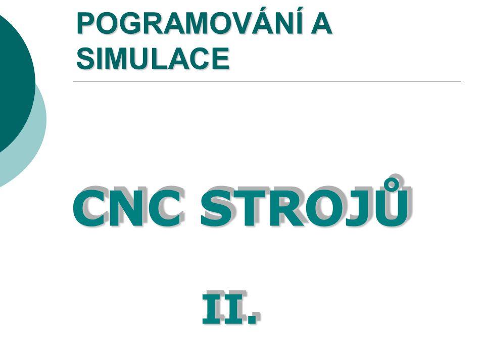 POGRAMOVÁNÍ A SIMULACE CNC STROJŮ II.II.