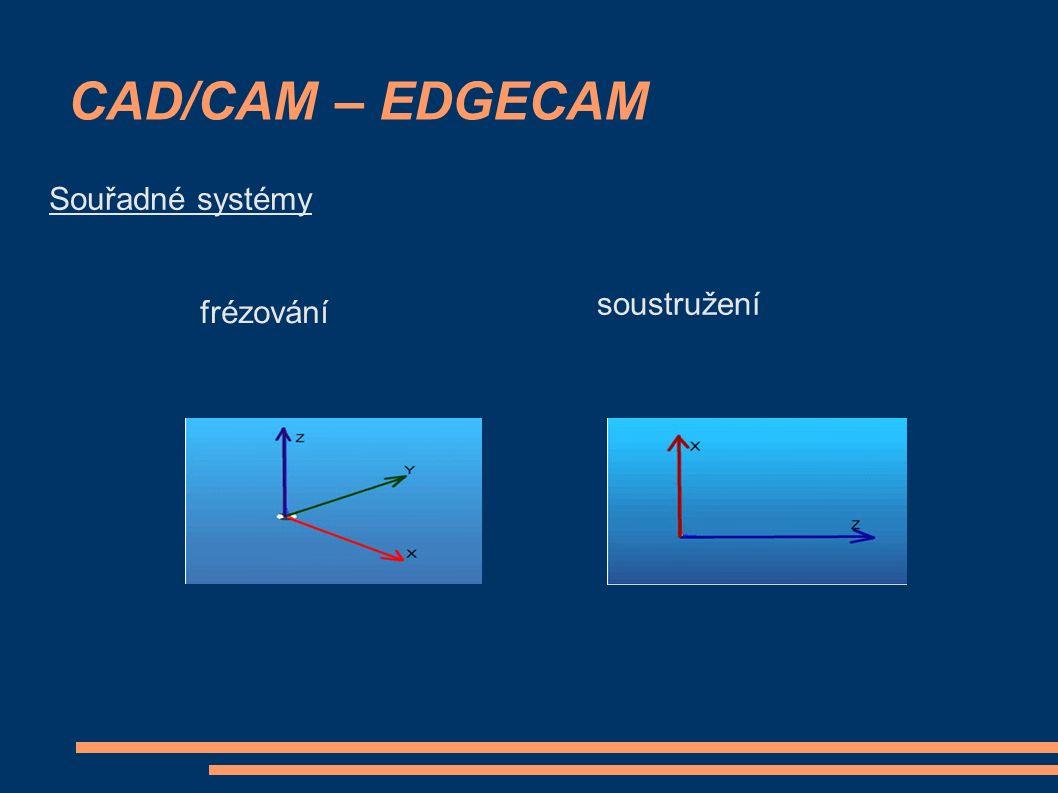 CAD/CAM – EDGECAM soustružení frézování Souřadné systémy