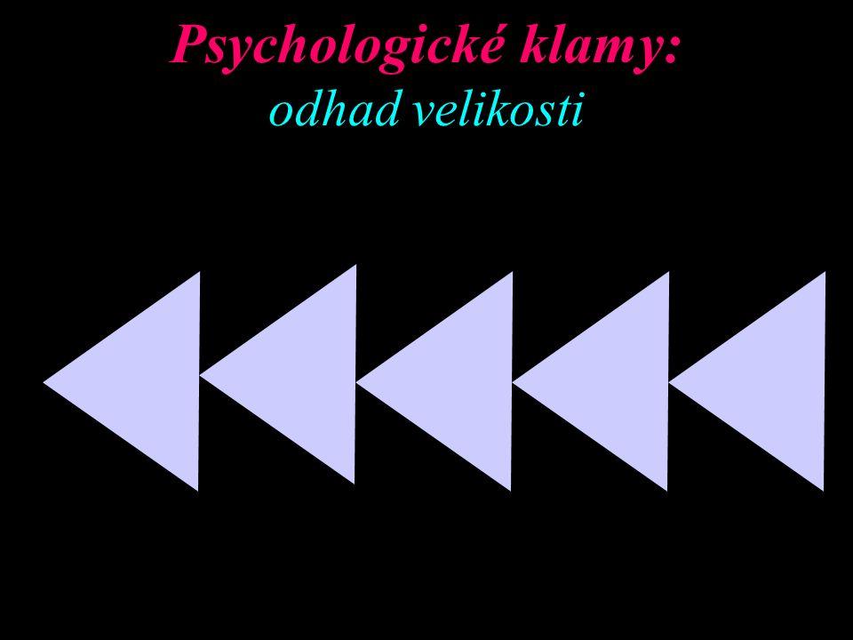Psychologické klamy: odhad velikosti