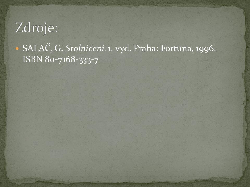 SALAČ, G. Stolničení. 1. vyd. Praha: Fortuna, 1996. ISBN 80-7168-333-7