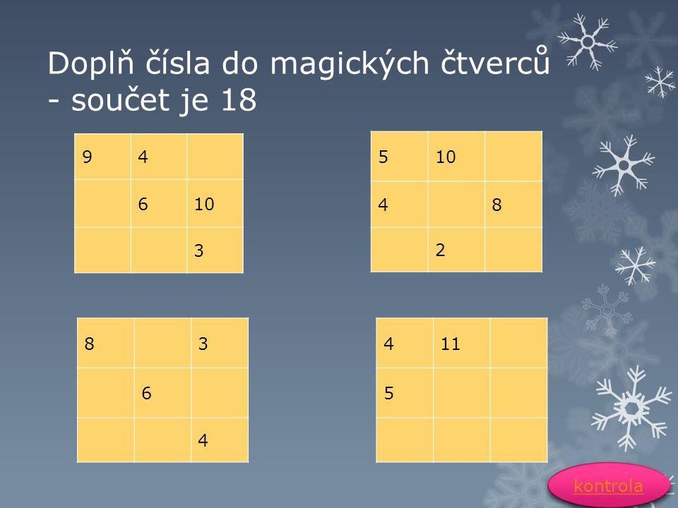Správné řešení 94 610 3 945 26 783 5 3 468 927 873 1611 954 4 3 567 918