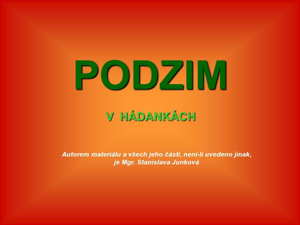 Jméno autoraMgr. Stanislava Junková Datum vytvořeníříjen 2011 Ročník1.