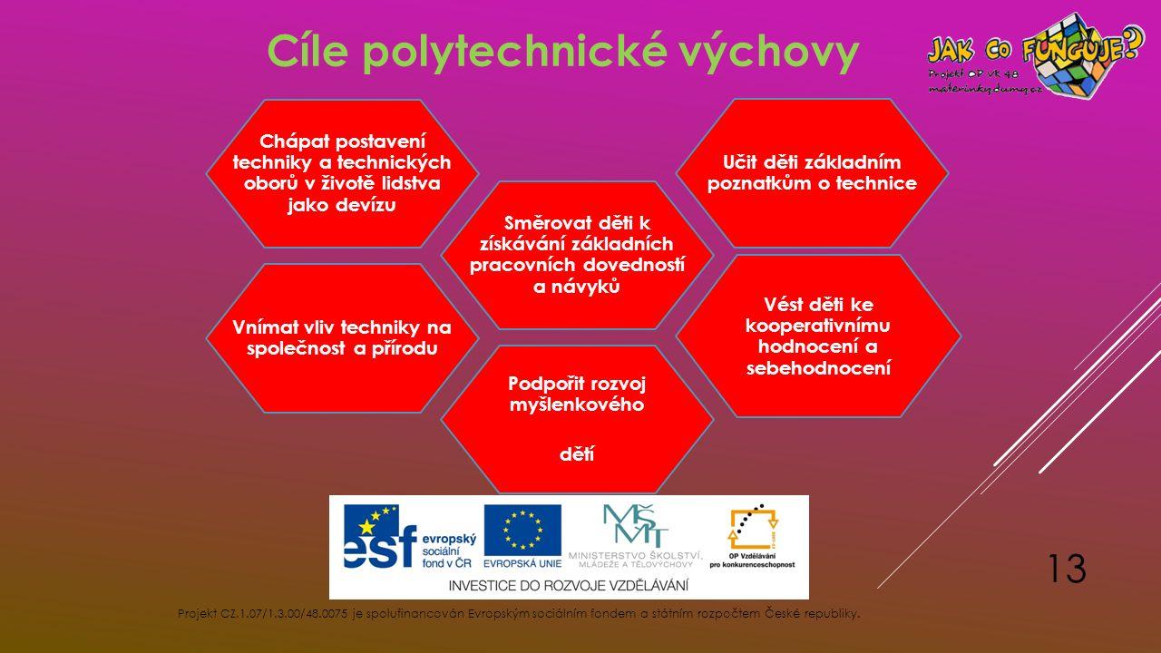 Projekt CZ.1.07/1.3.00/48.0075 je spolufinancován Evropským sociálním fondem a státním rozpočtem České republiky. 13 Vnímat vliv techniky na společnos