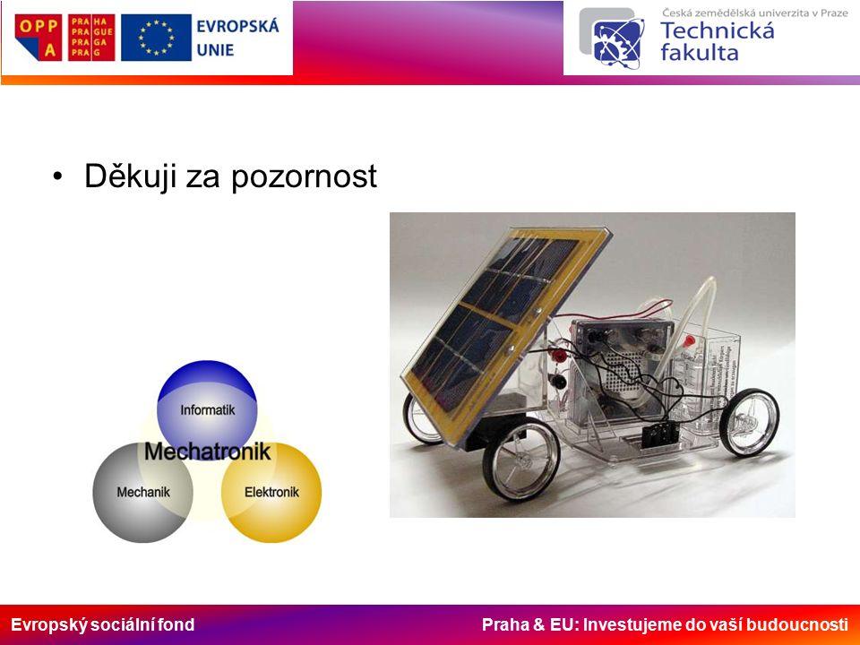 Evropský sociální fond Praha & EU: Investujeme do vaší budoucnosti Děkuji za pozornost
