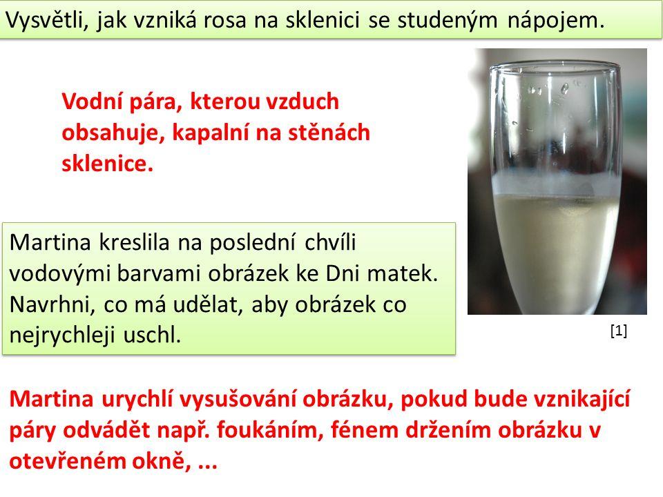Vysvětli, jak vzniká rosa na sklenici se studeným nápojem.
