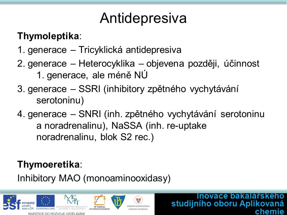 Antidepresiva Thymoleptika: 1. generace – Tricyklická antidepresiva 2.