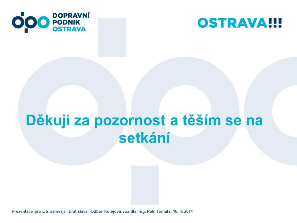 Děkuji za pozornost a těším se na setkání Prezentace pro OS tramvají - Bratislava, Odbor Kolejová vozidla, Ing.
