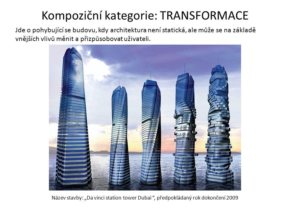 """Název stavby: """"Da vinci station tower Dubai """", předpokládaný rok dokončení 2009 Jde o pohybující se budovu, kdy architektura není statická, ale může s"""