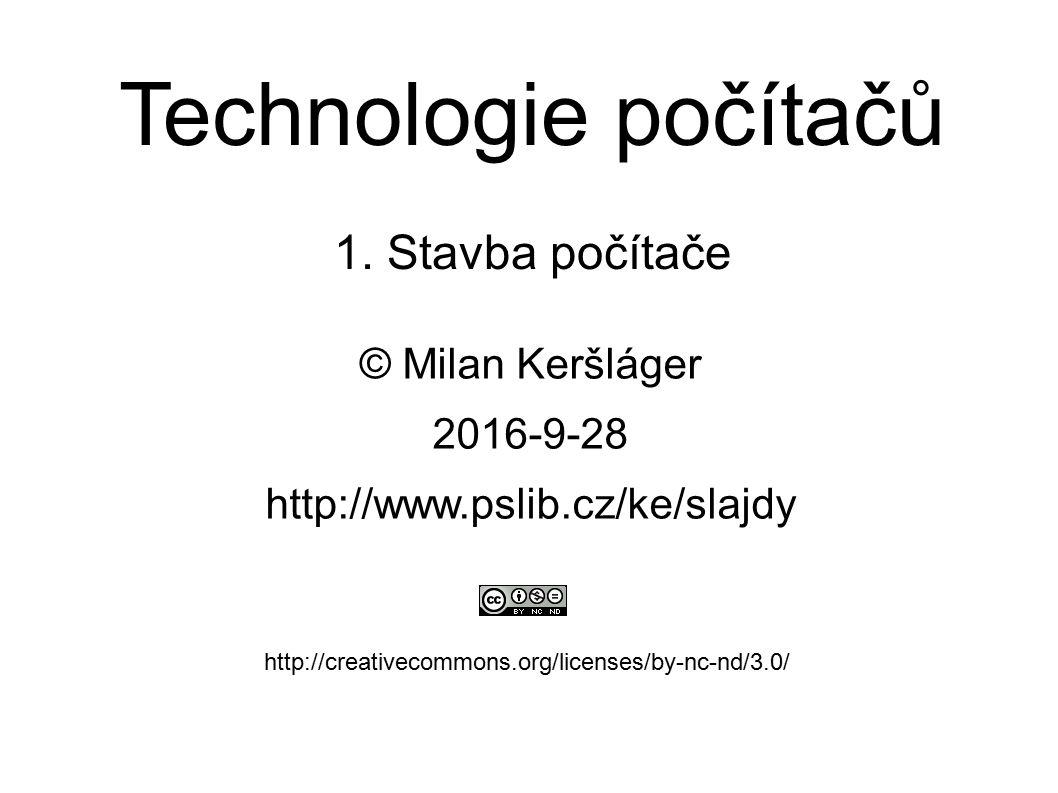 Technologie počítačů 1.