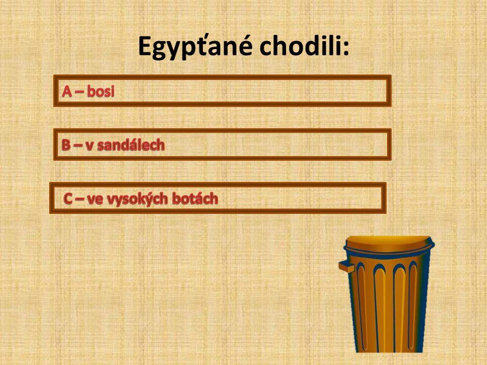 Egypťané chodili: