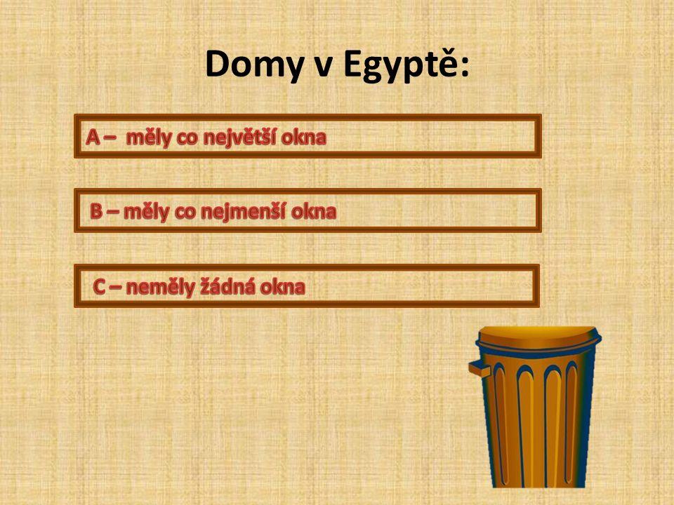 Domy v Egyptě: