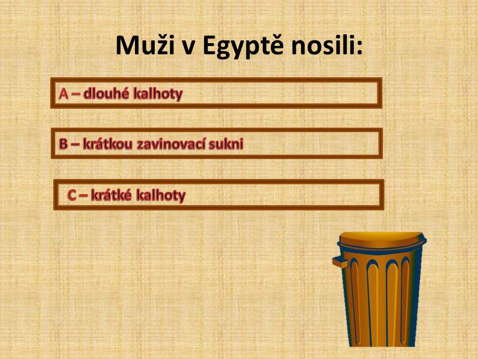 Muži v Egyptě nosili: