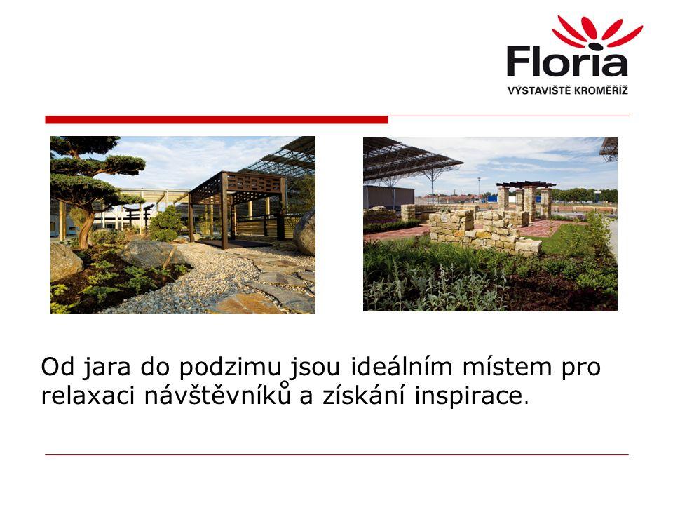Od jara do podzimu jsou ideálním místem pro relaxaci návštěvníků a získání inspirace.