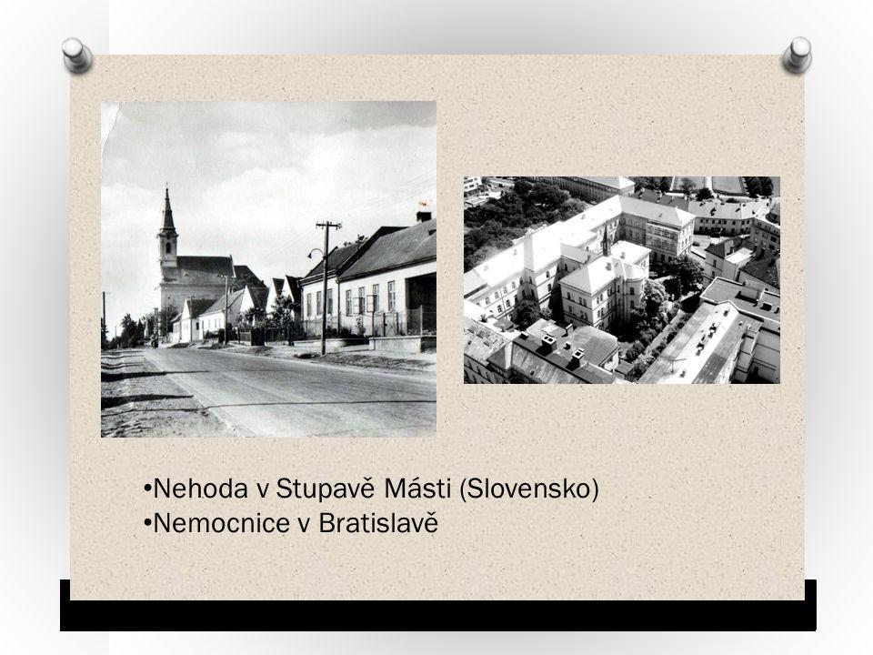 Nehoda v Stupavě Másti (Slovensko) Nemocnice v Bratislavě