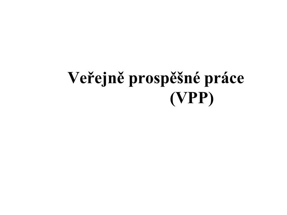 Veřejně prospěšné práce (VPP)