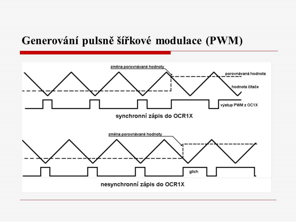 Generování pulsně šířkové modulace (PWM)