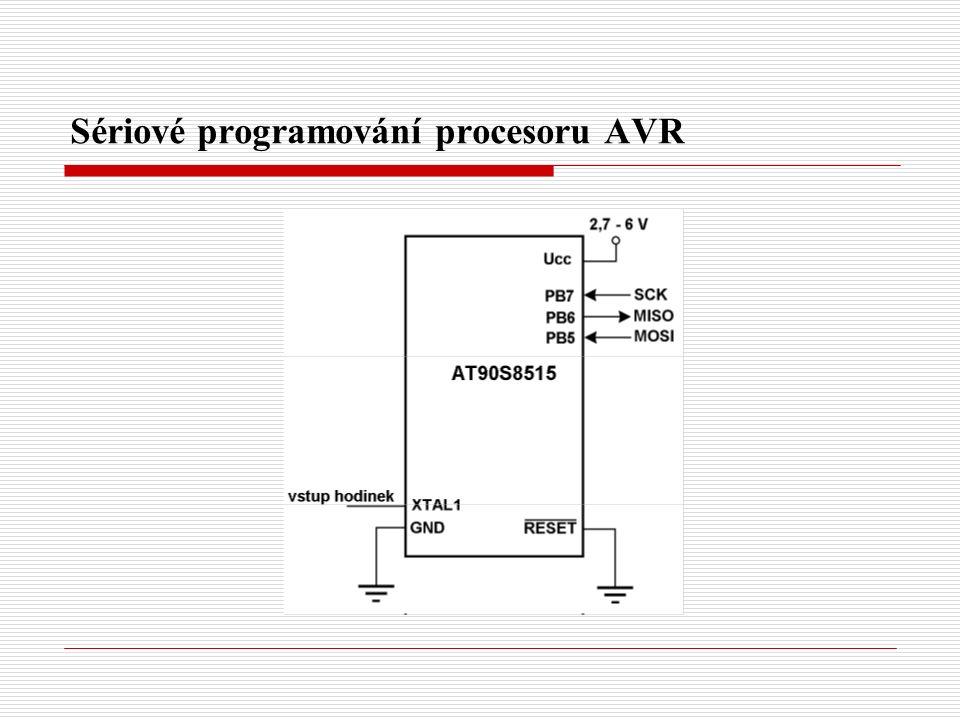 Sériové programování procesoru AVR