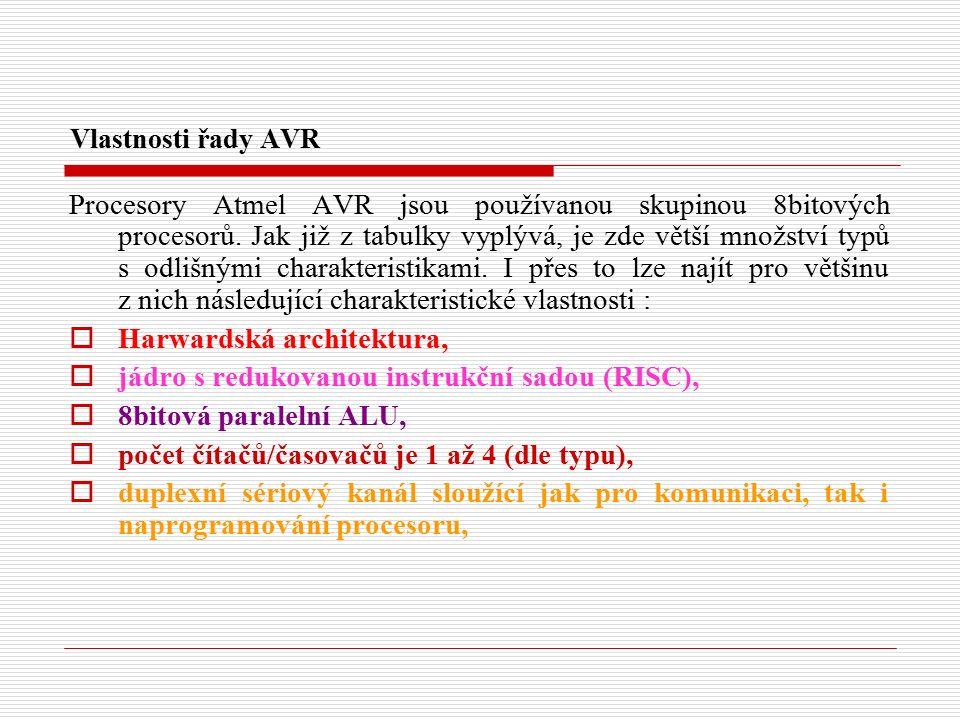 Přerušení od SPI - registr SPCR bit SPCR 76543210 SPIESPEDORDMSTRCPOLCPHASPR1SPR0 SPIE - Je-li SPIE = H a I = H je povoleno přerušení od SPI kanálu.