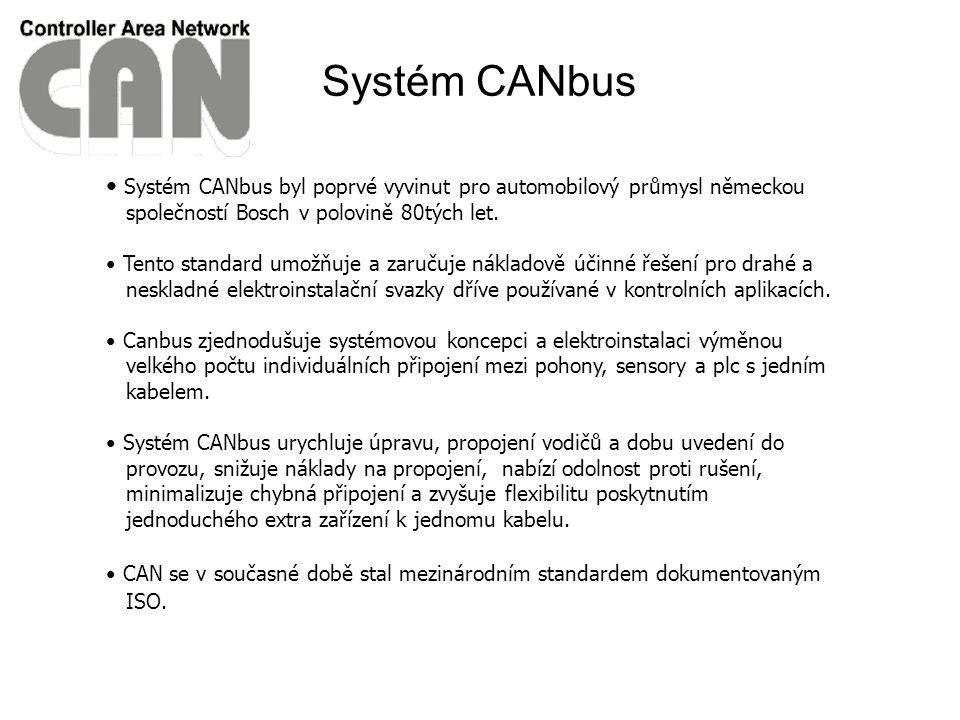 Systém CANbus byl poprvé vyvinut pro automobilový průmysl německou společností Bosch v polovině 80tých let.