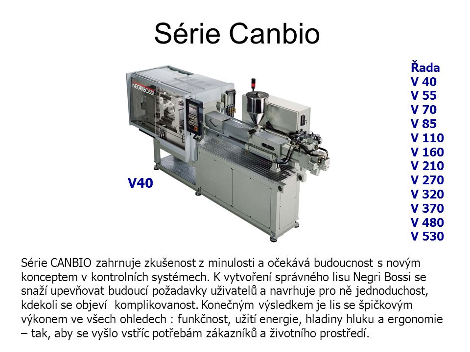 Série Canbio Série CANBIO zahrnuje zkušenost z minulosti a očekává budoucnost s novým konceptem v kontrolních systémech.