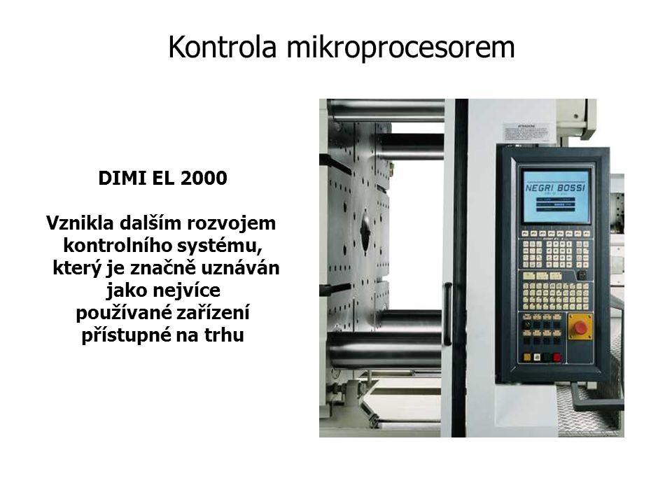 DIMI EL 2000 Vznikla dalším rozvojem kontrolního systému, který je značně uznáván jako nejvíce používané zařízení přístupné na trhu Kontrola mikroprocesorem