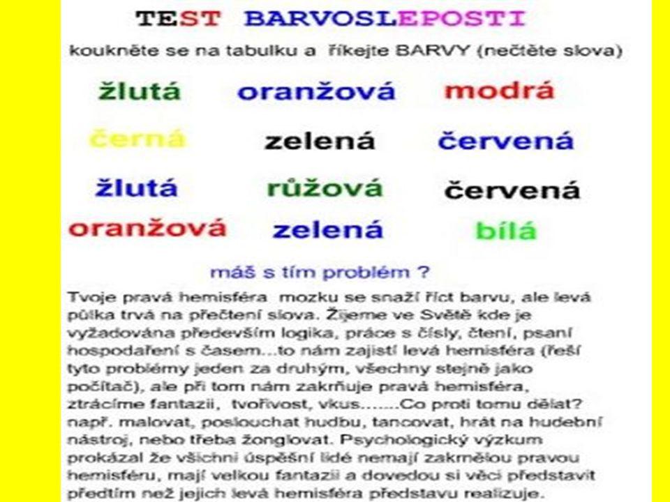 0ční testy, optické klamy http://www.kolumber.com/brain_test.php http://opticke-klamy.yin.cz/1/cerna-dira/ http://opticke-klamy.yin.cz/1/pohybujici-se- kruhy/http://opticke-klamy.yin.cz/1/pohybujici-se- kruhy/ http://www.fun-zone.cz/opticky-klam.asp http://www.youtube.com/watch v=hKVZN 1hDjEQhttp://www.youtube.com/watch v=hKVZN 1hDjEQ