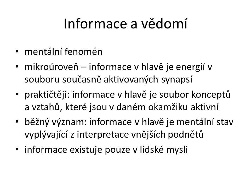 Informace jako myšlení 2.