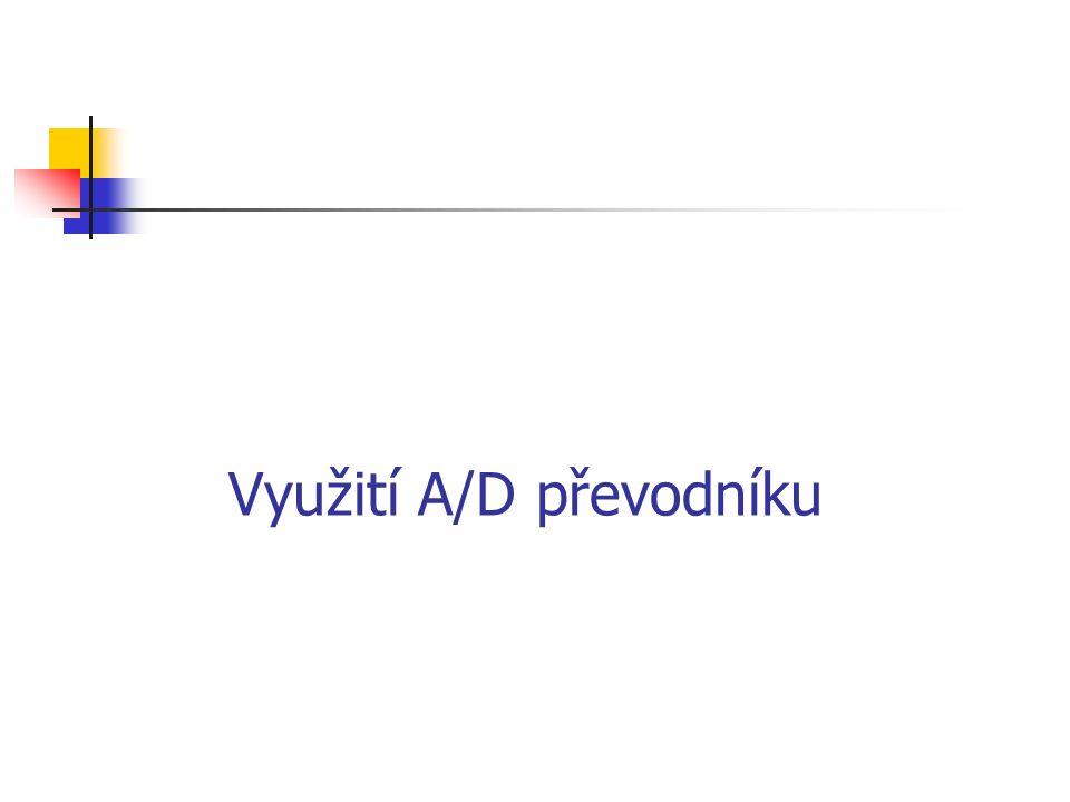 Využití A/D převodníku