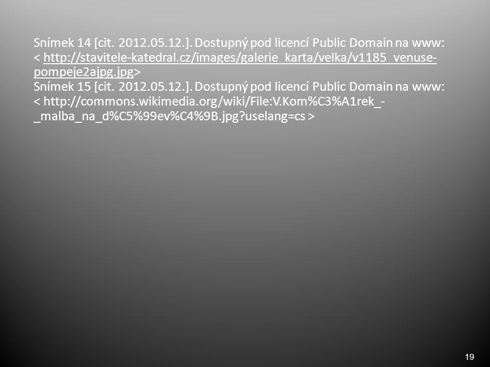 19 Snímek 14 [cit. 2012.05.12.].