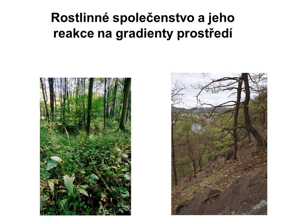 Rostlinné společenstvo a jeho reakce na gradienty prostředí