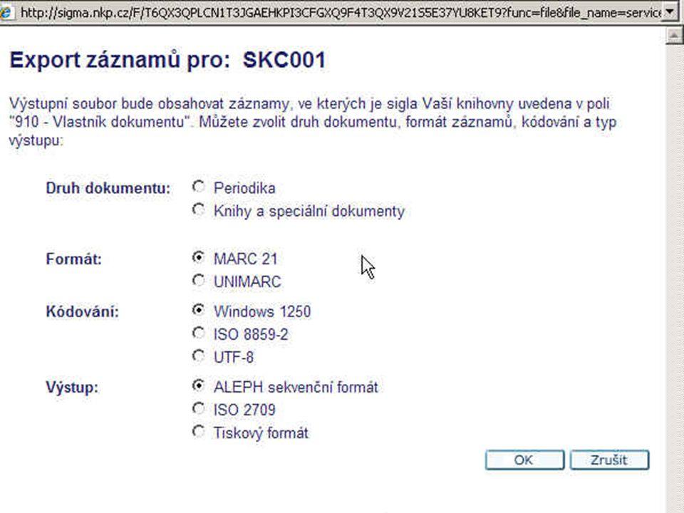 32 Opravy již dříve dodaných záznamů Opravy v bibliografických údajích lze provádět dávkově Informace :http://www.caslin.cz/spoluprace/importy/m oznosti-davkovych-oprav-zaznamu/http://www.caslin.cz/spoluprace/importy/m oznosti-davkovych-oprav-zaznamu/ Opravy lze požadovat na správci SK ČR (v on-line formuláři – kolonka pro zaslání zprávy správci SK ČR