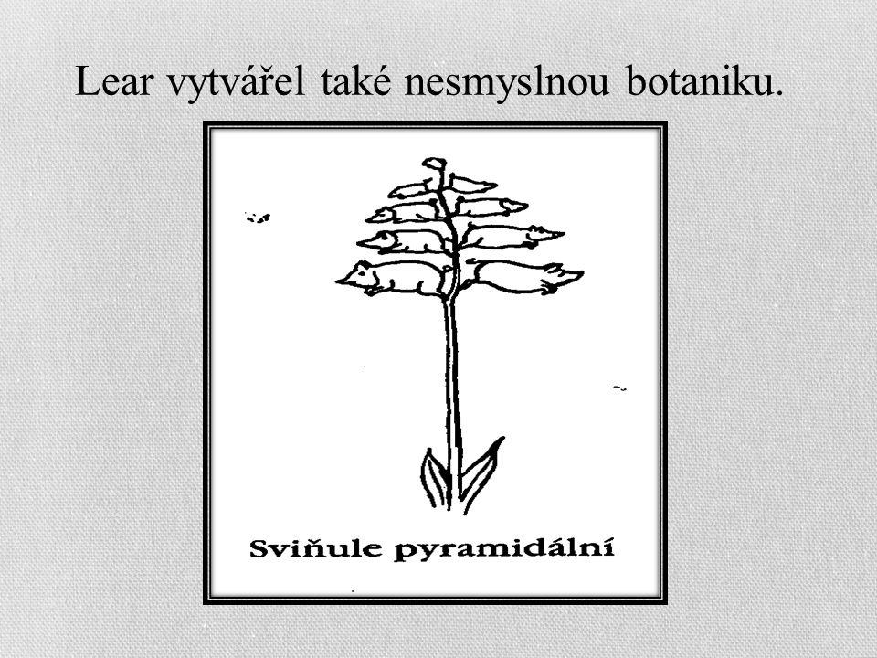 Lear vytvářel také nesmyslnou botaniku.