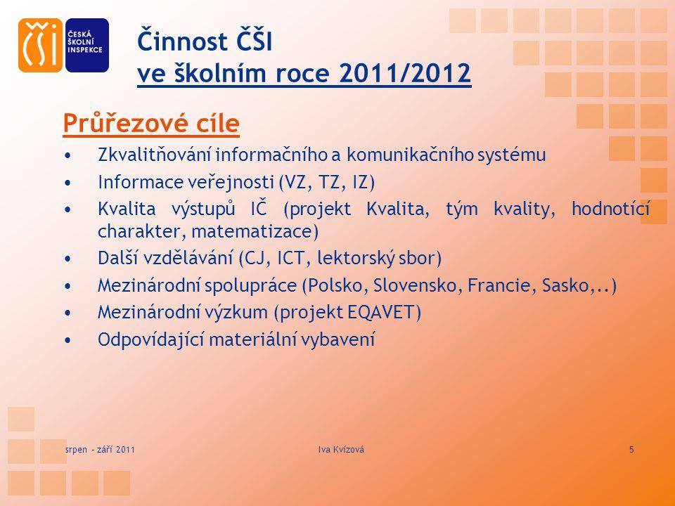 Činnost ČŠI ve školním roce 2011/2012 Model inspekčního hodnocení v ČR EVALUAČNÍ – sleduje školu jako celek, škola je základním prvkem systému (též např.