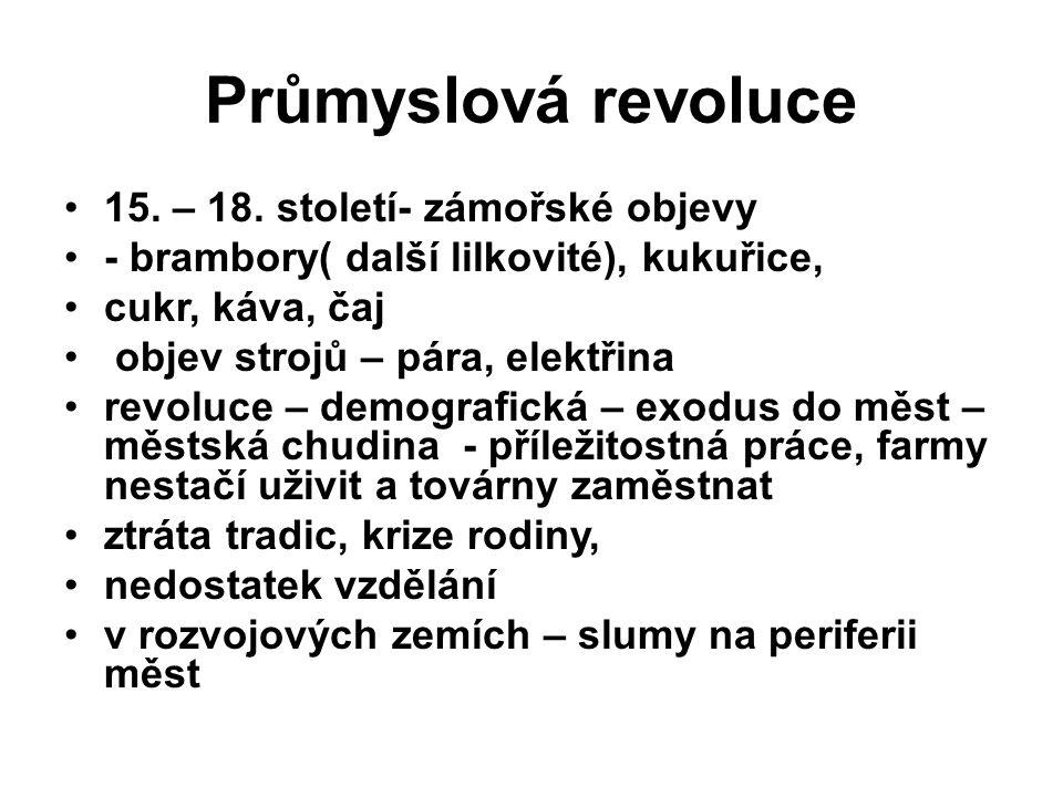 Průmyslová revoluce 15. – 18.