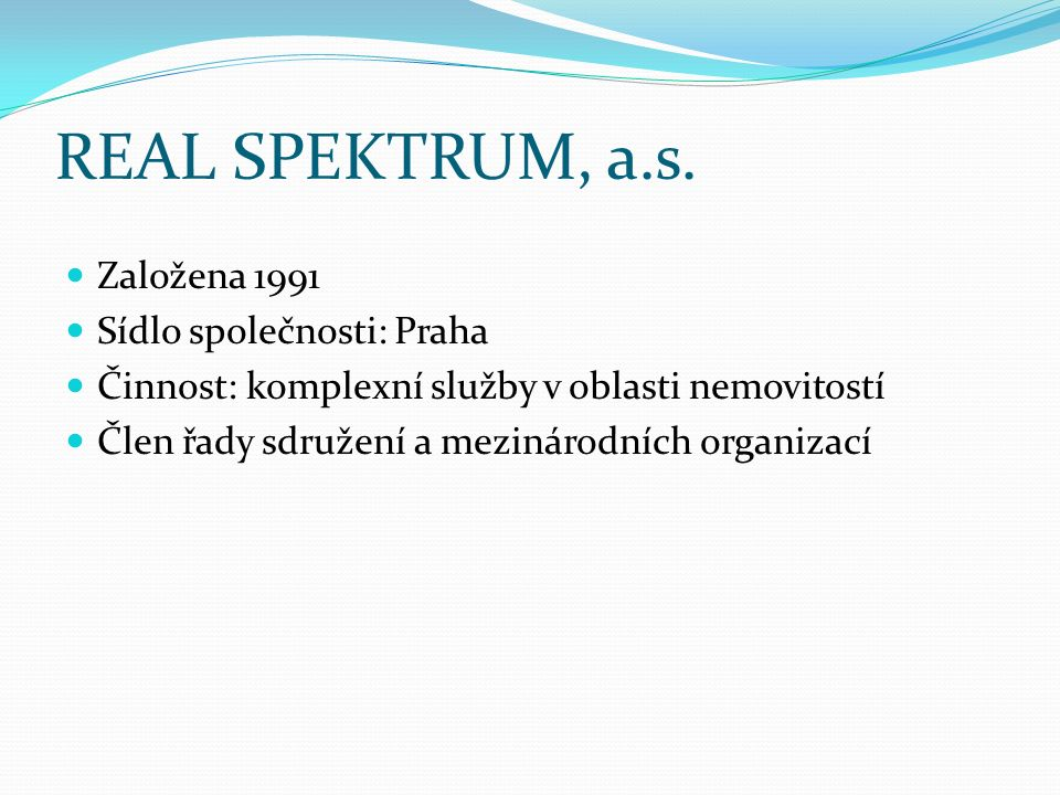 REAL SPEKTRUM, a.s.