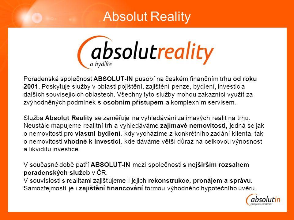 Poradenská společnost ABSOLUT-IN působí na českém finančním trhu od roku 2001.
