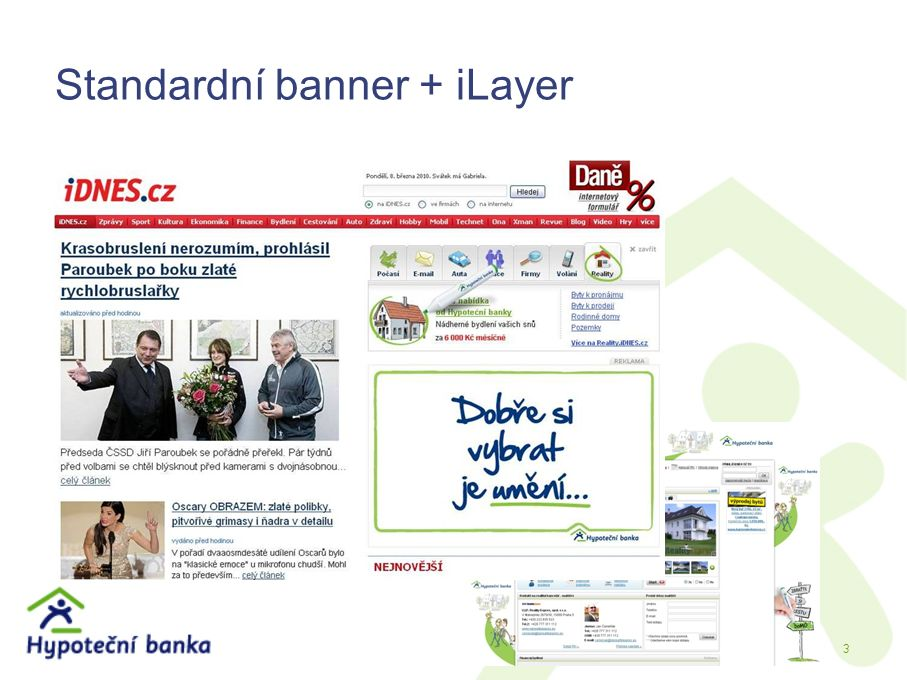 Standardní banner + iLayer 3