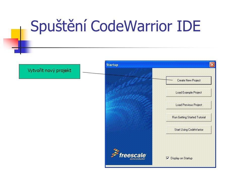 Postup v programu Nastavit bit 4 portu A jako vstup (tlačítko SW1) Nastavit bit 0 portu F jako výstup (LED1) Nastavit řídící registr modulu KBI – povolit přerušení (v registru KBI1SC) Povolit použití bitu 4 na portu A jako vstupu KBI Při stisku tlačítka bude obvod KBI generovat přerušení a provede se naše obsluha – funkce kbi_int().