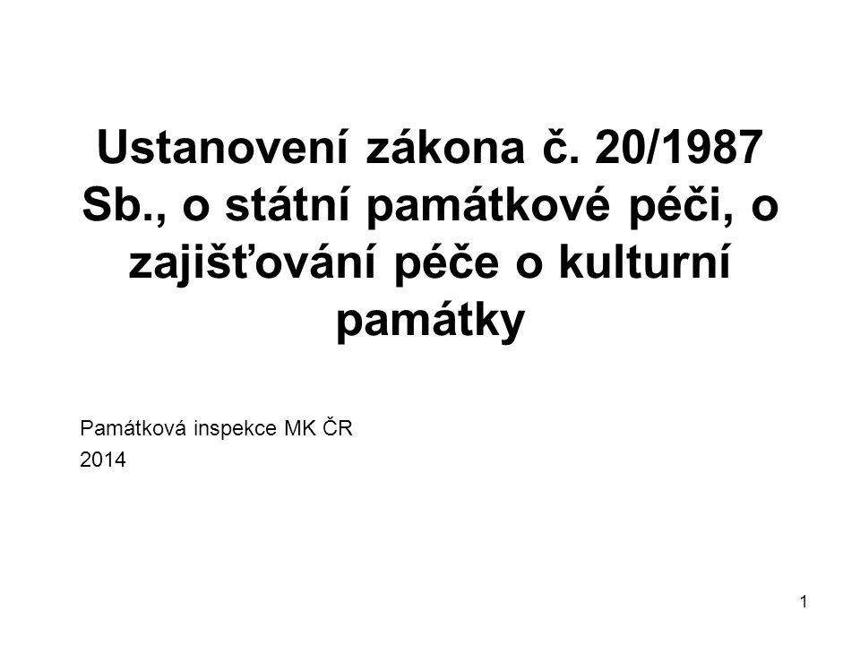 1 Ustanovení zákona č.