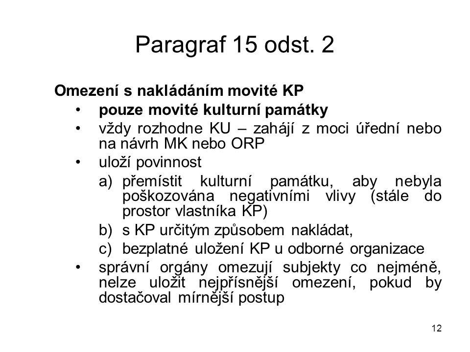 12 Paragraf 15 odst.