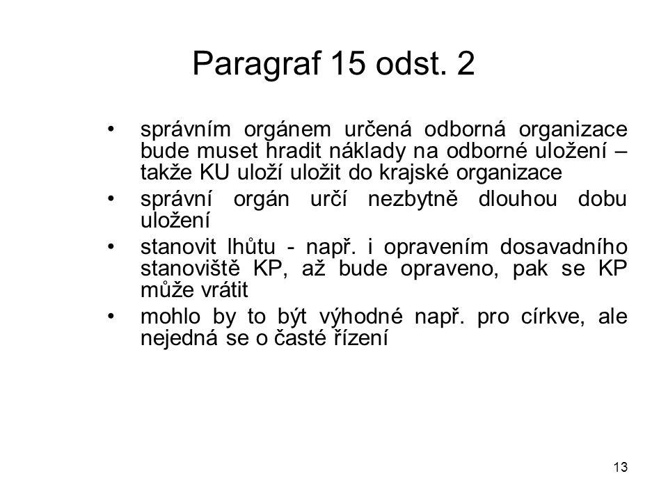 14 Paragraf 15 odst.