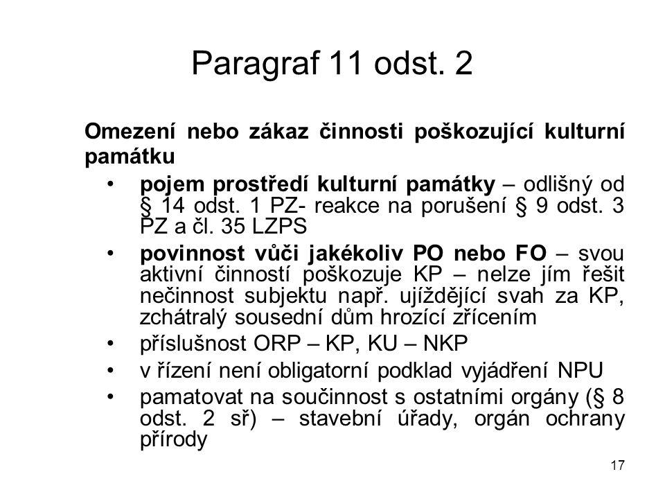 17 Paragraf 11 odst.