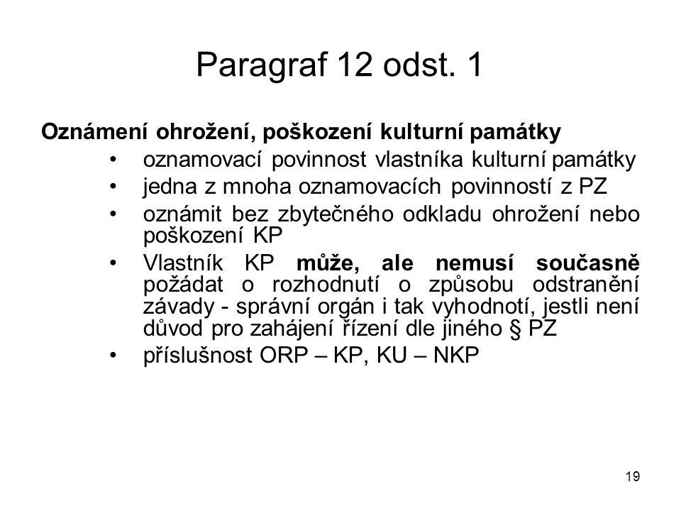 19 Paragraf 12 odst.