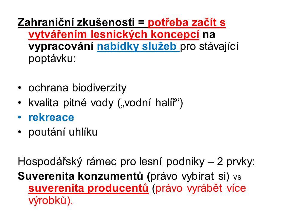 Pro trvale udržitelné hospodaření v lese (TUHL), tj.