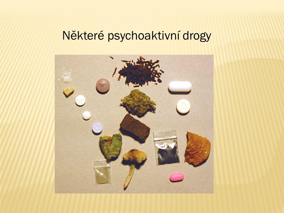 Některé psychoaktivní drogy