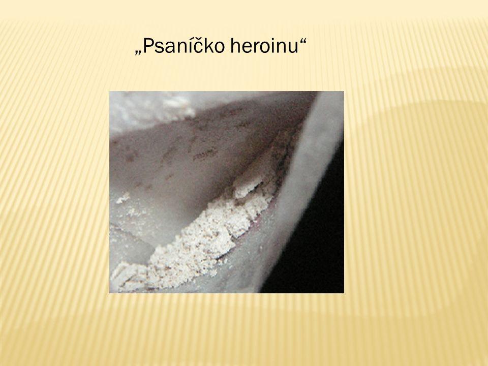  Pervitin - odstraňuje únavu - zneužívaná jako taneční droga  Kokain - jeho deriváty se používají v lékařství jako lokální anestetikum - droga se získává z kokainovníku pravého  Extáze – taneční droga